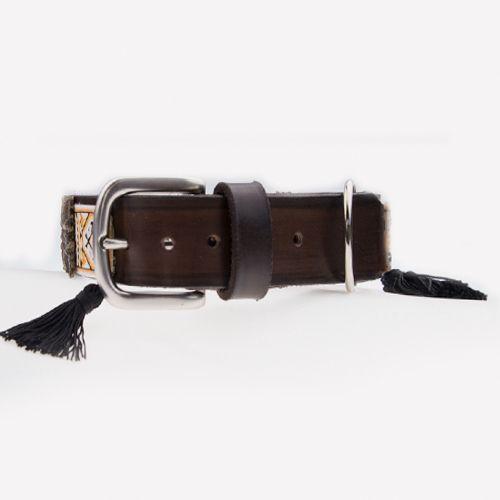 collar negro para perro