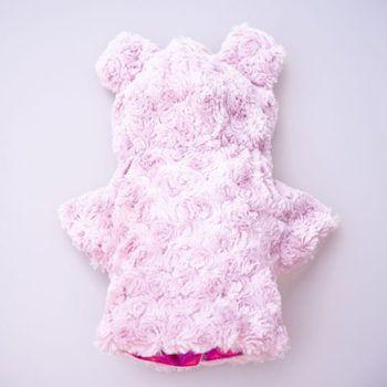 abrigo color rosa de perro
