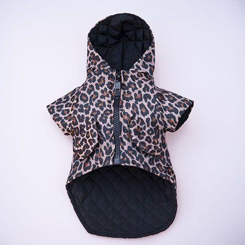 impermeable para perro estampado leopardo
