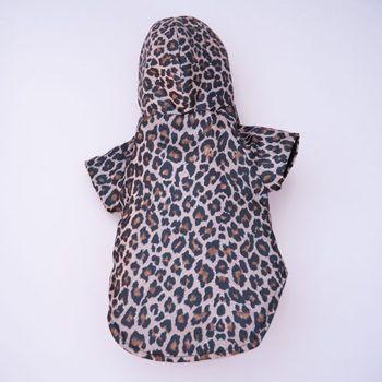 impermeable de perro estampado leopardo