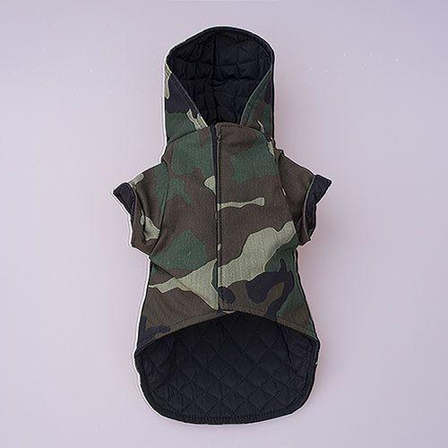 chaqueta color militar para perros