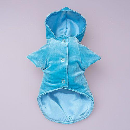 abrigo azul para perro