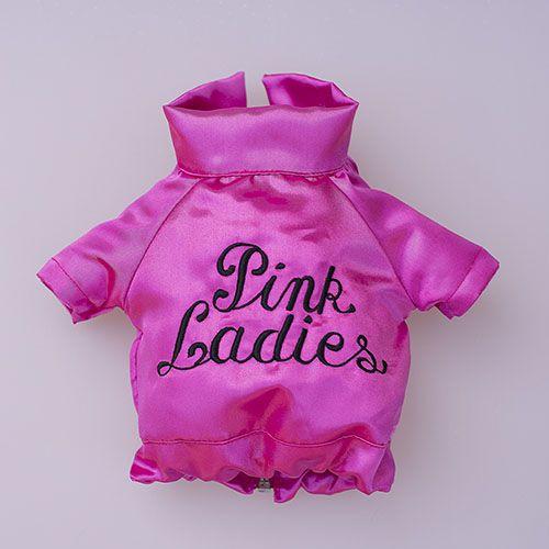 chaqueta rosa para perro