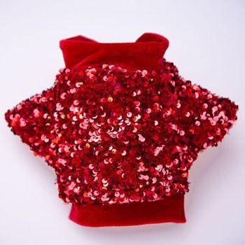 chaqueta roja para perro