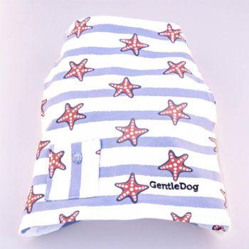 camiseta para perros estampado de estrellas de mar