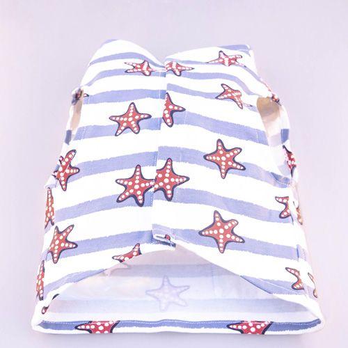 camiseta para perros con estampado de estrellas de mar